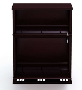 PARASNATH Coffee Colour Wall Shoe Rack 2 Shelves Shoes Stand - PARASNATH