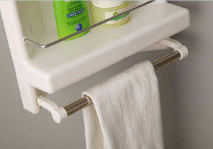 Parasnath Prince Bathroom Corner Cabinet Shelf with Towel Stand - PARASNATH