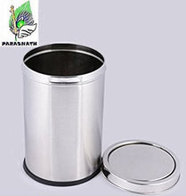 "Load image into Gallery viewer, Parasnath Stainless Steel Swing Dustbin, Swing Garbage Bin 18 Litre 10""x14"" - PARASNATH MADE IN INDIA"