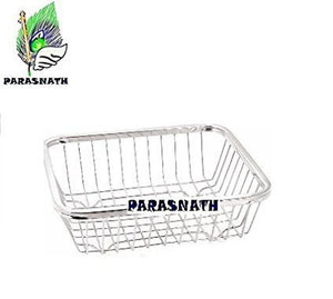 Parasnath Mirror Finish 3 Shelf Square Vegetable and Fruit Trolley, 3 Stand- 28 inch - PARASNATH MADE IN INDIA