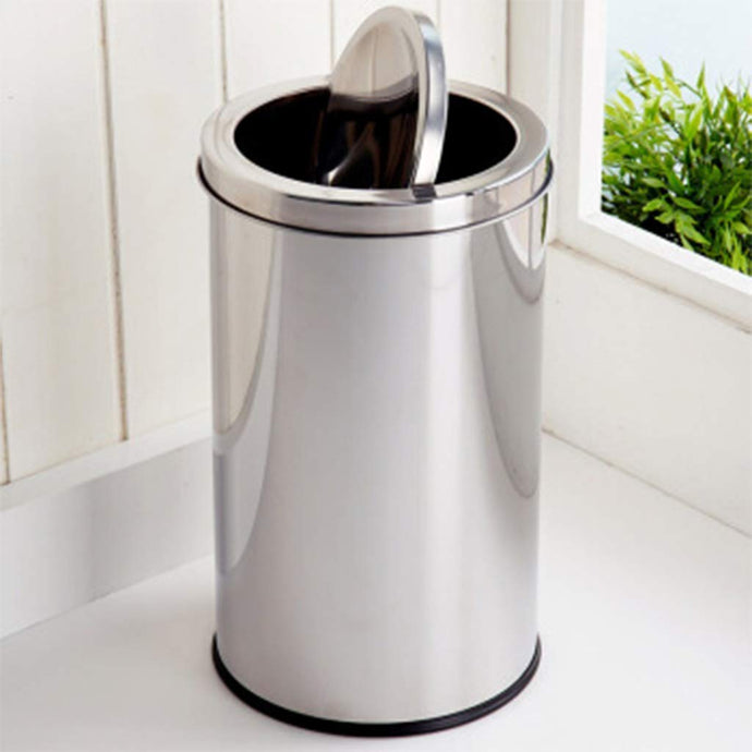 Parasnath Stainless Steel Swing Dustbin, Swing Garbage Bin 10 Litre 8