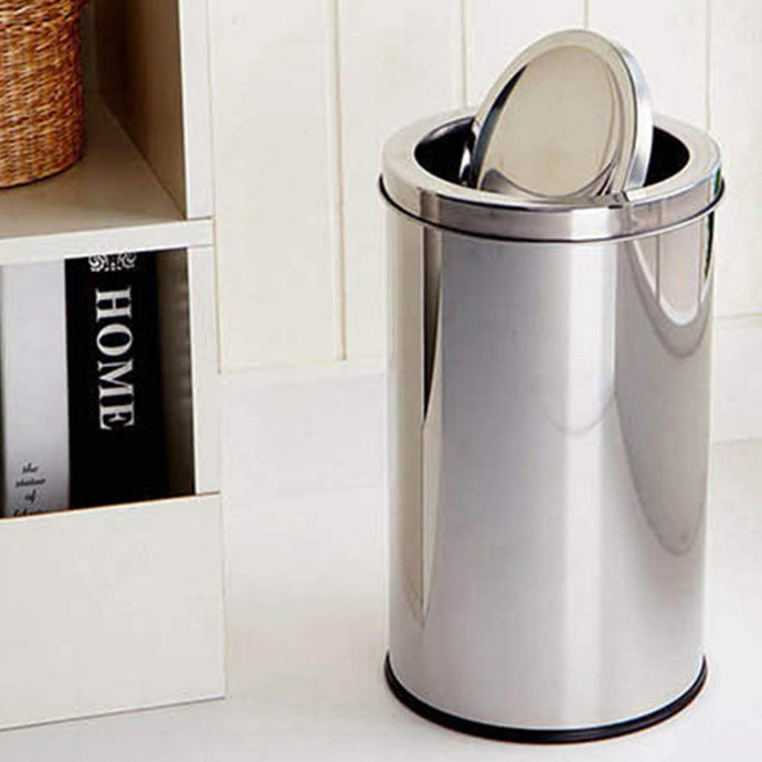 Parasnath Stainless Steel Swing Dustbin, Swing Garbage Bin 18 Litre 10
