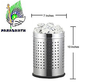 Parasnath Stainless Steel Perforated Square Dustbin, 6L - 7 X 11 Inch - PARASNATH