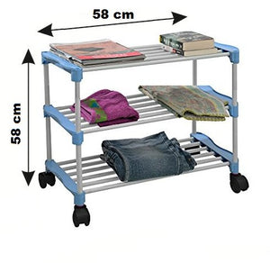 PARASNATH Trendy Cloth Shoe Rack with 3 Shelves - PARASNATH MADE IN INDIA