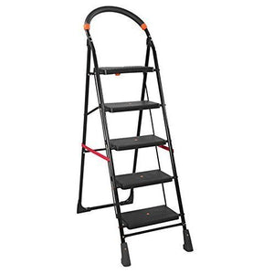 PARASNATH Back Diamond Heavy Folding Ladder With Wide Steps 5 Steps 5.2 Ft - PARASNATH MADE IN INDIA