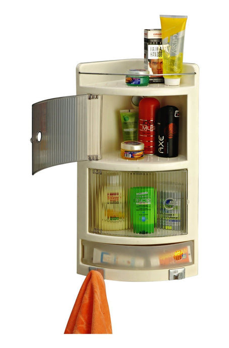 Parasnath Crystal Corner Cabinet Shelf for Bathroom - PARASNATH MADE IN INDIA