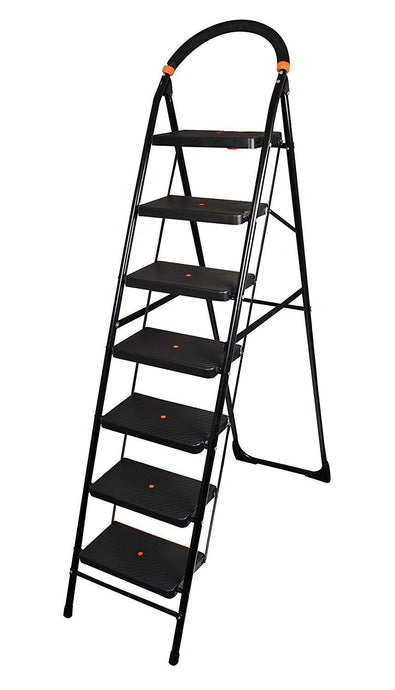 PARASNATH Back Diamond Heavy Folding Ladder With Wide Steps 7 Steps 7.3 Ft - PARASNATH