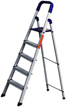 Load image into Gallery viewer, PARASNATH Aluminium Blue Heavy Folding Maple Ladder 5 Step 5.2 Ft - PARASNATH MADE IN INDIA
