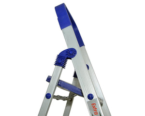 PARASNATH Aluminium Blue Heavy Folding Maple Ladder 3 Step 3.2 Ft - PARASNATH MADE IN INDIA