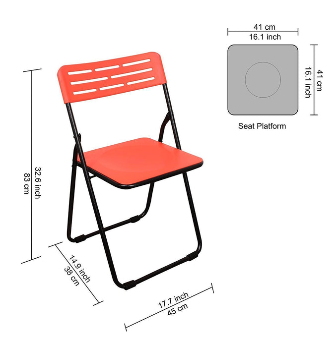 Parasnath Heavy Multipurpose Folding Plastic Chair - Colour Randomly Selected - PARASNATH MADE IN INDIA