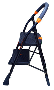 Parasnath Black Diamond Heavy Folding Ladder With Wide Steps 2 Steps 2.7 Ft Ladder - PARASNATH MADE IN INDIA