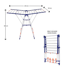 Load image into Gallery viewer, PARASNATH Winsome Modular Cloth Dryer Stand - Pre-Assembled, Foldable - PARASNATH MADE IN INDIA