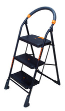 Load image into Gallery viewer, Parasnath Black Diamond Heavy Folding Ladder With Wide Steps 3 Steps 3.1 Ft Ladder - PARASNATH MADE IN INDIA
