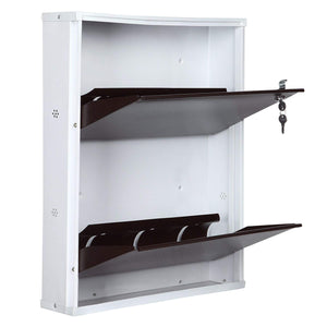 PARASNATH BrownWhite Wall Shoe Rack 2 Shelves Shoes Stand - PARASNATH MADE IN INDIA