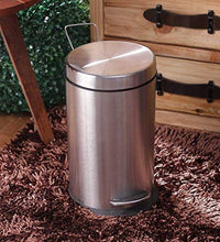 Load image into Gallery viewer, Parasnath Stainless Steel Plain Pedal Dustbin With Plastic Bucket (12''X20''- 20 Liter) - PARASNATH