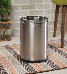 Parasnath Stainless Steel Plain Open Dustbin, 11L - 10X15 Inch - PARASNATH