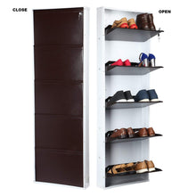 Load image into Gallery viewer, Parasnath BrownWhite Wall Shoe Rack 5 Shelves Shoes Stand - PARASNATH