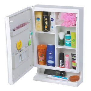 PARASNATH Strong and Heavy New Look Bathroom Cabinet with Cabinet with Mirror - White - PARASNATH MADE IN INDIA