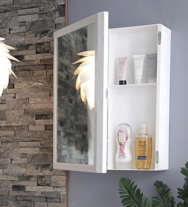 PARASNATH Flora Beautiful Big Flora Bathroom Cabinet with Flora Cabinet with Mirror Made in India - PARASNATH