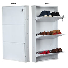 Load image into Gallery viewer, PARASNATH Pure White Wall Shoe Rack 3 Shelves Shoes Stand - PARASNATH MADE IN INDIA