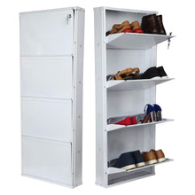 Load image into Gallery viewer, Parasnath Pure White Wall Shoe Rack 4 Shelves Shoes Stand - PARASNATH