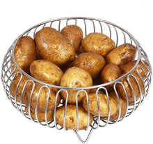 Load image into Gallery viewer, Parasnath Heavy Stainless Steel Vegetable and Fruit Bowl Basket - PARASNATH MADE IN INDIA