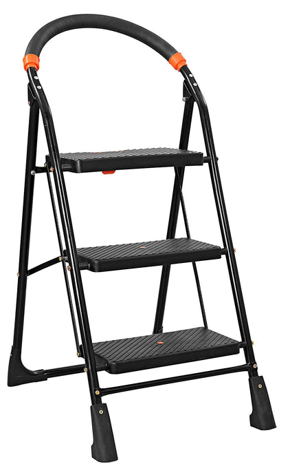 Parasnath Black Diamond Heavy Folding Ladder With Wide Steps 3 Steps 3.1 Ft Ladder - PARASNATH