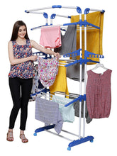 Load image into Gallery viewer, Parasnath Stainless Steel 3 Poll Clothes Drying Stand Wheel - PARASNATH