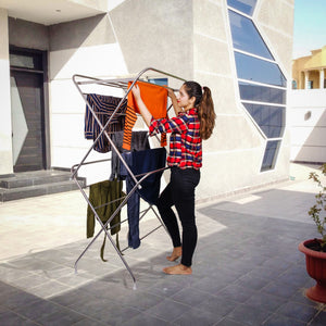 PARASNATH Stainless Steel 15 Rods Extra Large Foldable Clothes Drying Stand - PARASNATH MADE IN INDIA