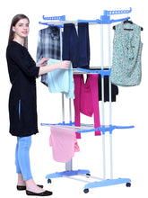 Load image into Gallery viewer, PARASNATH Steel 6 Layer Pole Clothes Drying Stand With Breaking Wheel System - PARASNATH MADE IN INDIA