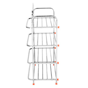 Parasnath 4 Layer Stainless Steel Shoes Stand Rack - PARASNATH MADE IN INDIA
