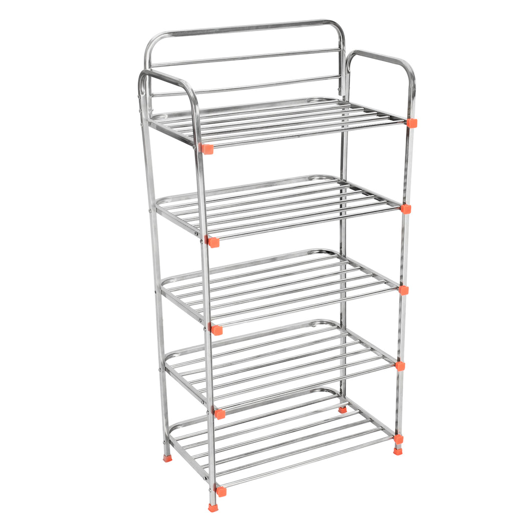Parasnath 5 Layer Stainless Steel Shoes Stand Rack - PARASNATH MADE IN INDIA