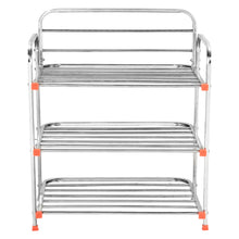 Load image into Gallery viewer, Parasnath 3 Layer Stainless Steel Shoes Stand Rack - PARASNATH MADE IN INDIA
