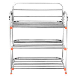 Parasnath 3 Layer Stainless Steel Shoes Stand Rack - PARASNATH MADE IN INDIA