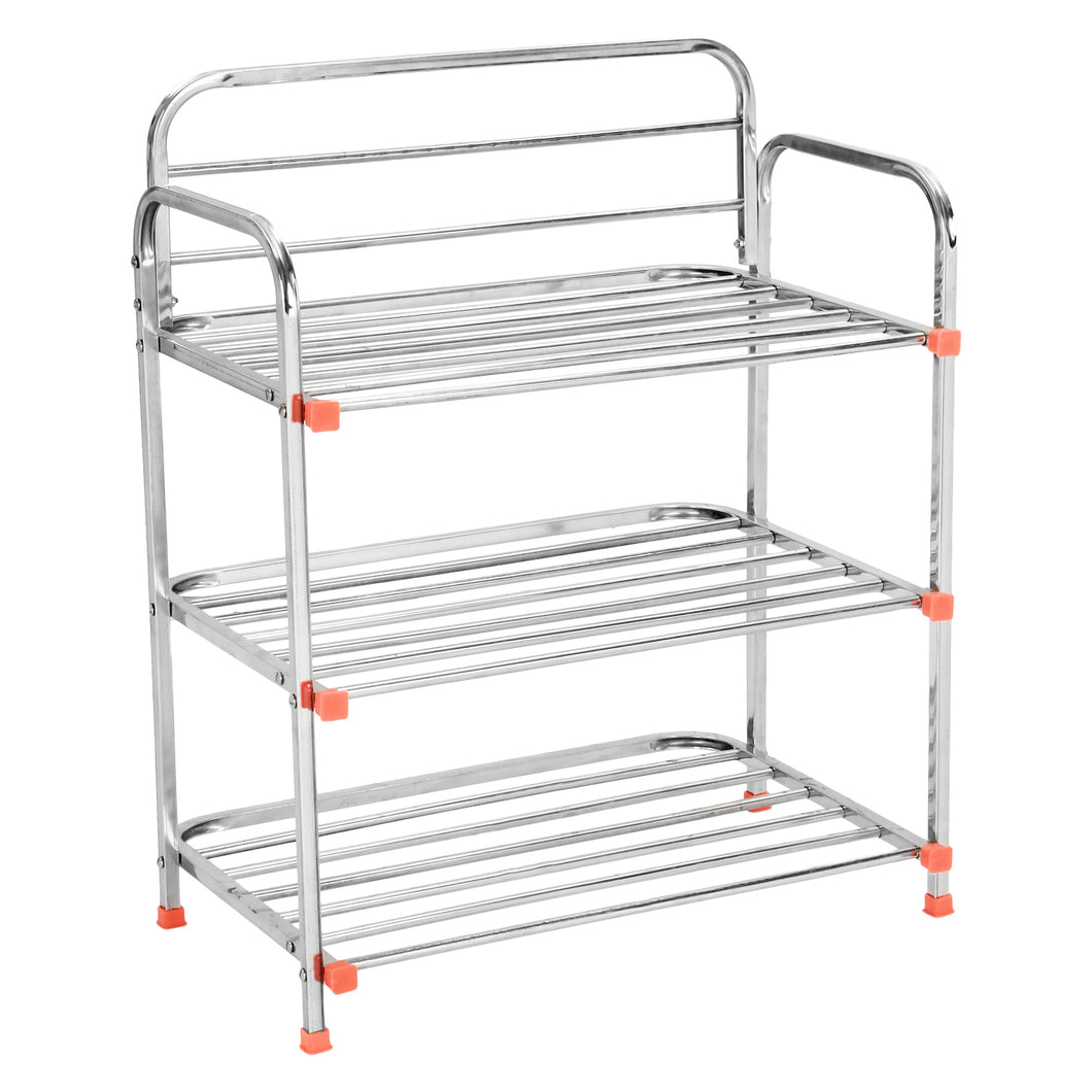Parasnath 3 Layer Stainless Steel Shoes Stand Rack - PARASNATH