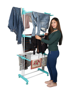 Parasnath Aqua 6 Layer  Clothes Drying Stand With Breaking Wheel System - PARASNATH MADE IN INDIA