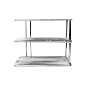 Parasnath 3 tier corner multipurpose kitchen plate dish corner shelf rack stand shelves holder - PARASNATH MADE IN INDIA