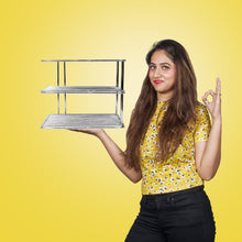 Load image into Gallery viewer, Parasnath 3 tier corner multipurpose kitchen plate dish corner shelf rack stand shelves holder - PARASNATH MADE IN INDIA
