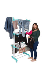 Load image into Gallery viewer, Parasnath Aqua 6 Layer  Clothes Drying Stand With Breaking Wheel System - PARASNATH