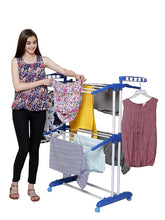 Load image into Gallery viewer, PARASNATH Prime Steel Mini Poll Clothes Drying Stand with Breaking Wheel System- Made in India - PARASNATH