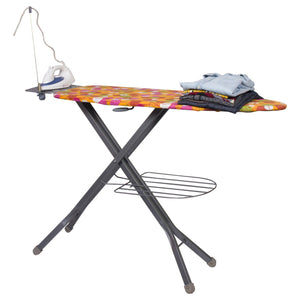 Parasnath Prime Square Steel Mash Wire Folding Ironing Board with Tray/Wire Manager and Aluminised Surface-Multi Colour (Made in India) - PARASNATH MADE IN INDIA