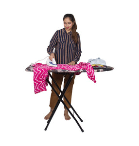 "Parasnath  Folding Large Ironing Board Table 15"" X 48"" (Colour May Vary, Multi-Color) - PARASNATH MADE IN INDIA"