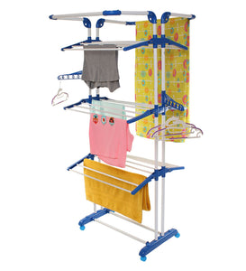 Parasnath Stainless Steel 3 Poll Clothes Drying Stand Wheel - PARASNATH MADE IN INDIA