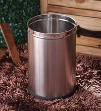 Load image into Gallery viewer, Parasnath Stainless Steel Plain Open Dustbin, 8L - 8X13 Inch - PARASNATH MADE IN INDIA