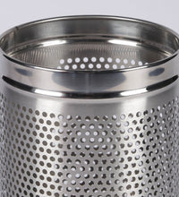 Load image into Gallery viewer, Parasnath Stainless Steel Perforated Round Dustbin, 8L - 8 X 13 Inch - PARASNATH MADE IN INDIA
