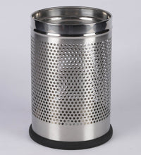 Load image into Gallery viewer, Parasnath Stainless Steel Perforated Round Dustbin, 6L - 7 X 11 Inch - PARASNATH