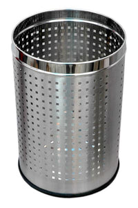 Parasnath Stainless Steel Perforated Square Dustbin, 8L - 8 X 13 Inch - PARASNATH MADE IN INDIA