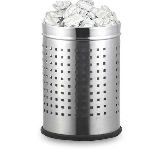 Parasnath Stainless Steel Perforated Square Dustbin, 11L - 10 X 15 Inch - PARASNATH MADE IN INDIA