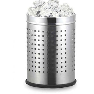 Parasnath Stainless Steel Perforated Square Dustbin, 8L - 8 X 13 Inch - PARASNATH