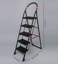 Load image into Gallery viewer, PARASNATH Back Diamond Heavy Folding Ladder With Wide Steps 5 Steps 5.2 Ft - PARASNATH MADE IN INDIA